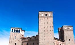 Schloss Fossano, Piemont, Italien Lizenzfreies Stockbild