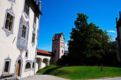 Schloss Fussen 3 - slott i Österrike Arkivbilder