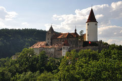 Schloss am Gipfel Stockfotos
