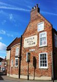 Schloss-Hügel-Club und Drury-Weg, Lincoln, Lincolnshire Stockfotografie