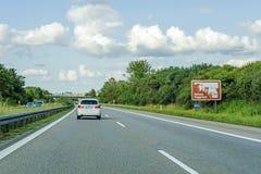 Schloss Haigerloch znak, Autobahn, Niemcy zdjęcie stock