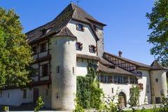 Schloss Hegi Stad Winterthur, Schweiz royaltyfria foton