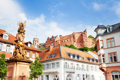 Schloss Heidelberg from town square view, Germany Stock Photo
