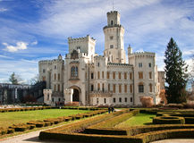 Schloss Hluboka Lizenzfreie Stockfotos
