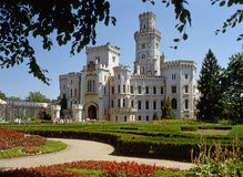 Schloss Hluboka Lizenzfreies Stockfoto