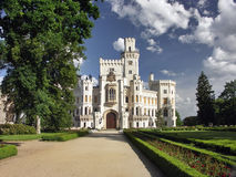 Schloss Hluboka nad Vltavou Stockbild