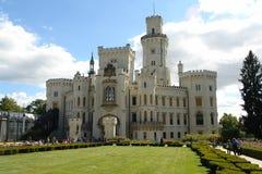 Schloss Hluboka nad Vltavou Stockbilder