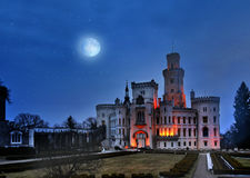 Schloss Hluboka, Tschechische Republik Prags Lizenzfreies Stockfoto