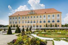 Schloss Hof kasztel z baroku ogródem, Austria Zdjęcia Stock