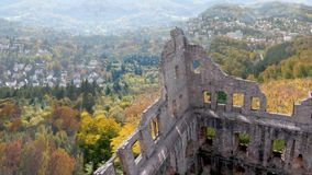 Schloss hohenbaden - old castle stock video