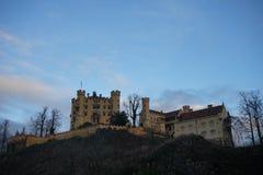 Schloss hohenschwangau stockbild