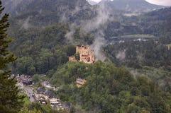 Schloss Hohenschwangau, Bavaria, Germany. Schloss Hohenschwangau, the yellow gothic castle  in which King Ludwig II lived, across from Neuschwanstein. Bavaria Stock Photo