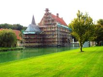 Schloss Huelshoff (in der Erneuerung) Lizenzfreie Stockfotografie