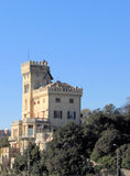 Schloss im Blau Stockfotografie