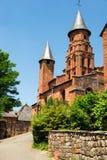 Schloss im Collonges Larouge stockbild