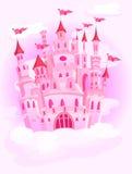 Schloss im Himmel lizenzfreie abbildung