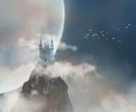 Schloss im Himmel Lizenzfreie Stockbilder