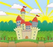 Schloss im Wald. Lizenzfreie Stockfotos