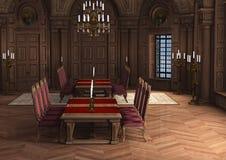 Schloss-Innenraum der Wiedergabe-3D lizenzfreie abbildung