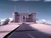 Schloss-IR-Filter Inverness Schottland Stockfotos