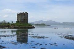 Schloss-Jäger Loch linnhe Schottland Stockbilder