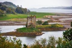 Schloss-Jäger - Ruinen, Schottland lizenzfreies stockbild