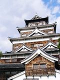 Schloss Japan-Hiroschima stockfoto
