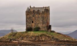 Schloss-Jäger, Loch Linnhe, Schottland Stockbilder