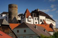 Schloss Jindrichuv Hradec lizenzfreie stockfotos