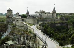 Schloss Kamianets Podilskyi Lizenzfreie Stockfotos