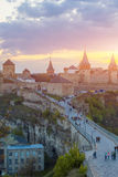 Schloss in Kamianets-Podilskyi Lizenzfreies Stockfoto
