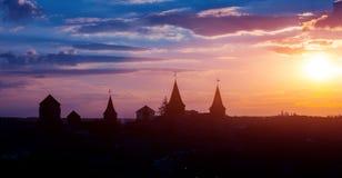 Schloss in Kamianets Podilskyi Stockfotografie