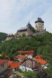 Schloss Karlstejn Stockfotos