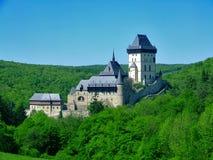 Schloss Karlstejn stockbilder