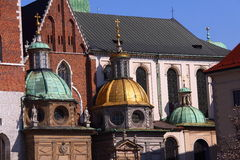 Schloss in Krakau Polen Lizenzfreie Stockfotos