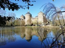 Schloss an Lassay-les Chateaux, Mayenne, Frankreich lizenzfreies stockfoto