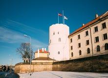 Schloss Lettlands Riga, berühmter Markstein, offizieller Präsident Residenc Lizenzfreies Stockfoto