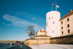 Schloss Lettlands Riga, berühmter Markstein, offizieller Präsident Residence Lizenzfreies Stockbild