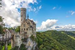 Schloss Lichtenstein stock afbeelding