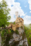Schloss Lichtenstein castle on the cliff Germany Stock Photo
