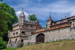 Schloss Lichtenstein slott Arkivfoton