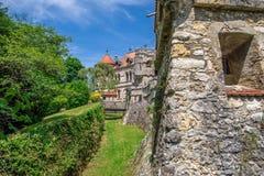 Schloss Lichtenstein slott Arkivbild