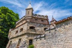 Schloss Lichtenstein slott Royaltyfria Foton