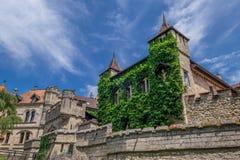 Schloss Lichtenstein slott Arkivfoto