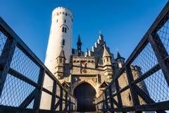 Schloss Lichtenstein slottTyskland Baden-Wuerttemberg Swabian A Fotografering för Bildbyråer