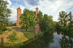 Schloss in Lidzbark Warminski Stockfoto