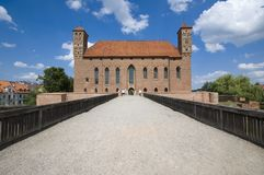 Schloss in Lidzbark Warminski Stockfotografie