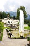 schloss linderhof фонтана Стоковая Фотография
