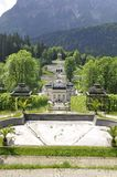 ETTAL ABBEY, GERMANY - AUGUST 12, 2018: Linderhof Palace German: Schloss Linderhof is a Schloss in Germany, in Bavaria stock photography