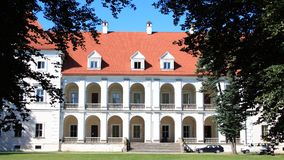 Schloss in Litauen Stockbilder